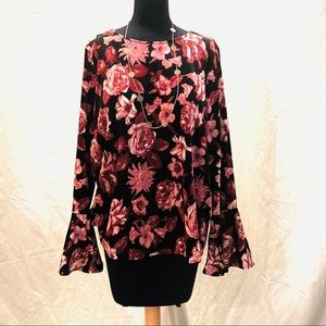IMAN PINK FLORAL BLOUSE